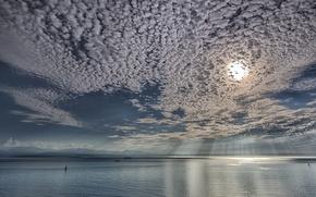 Картинка United States, Washington, Island, Sailing on a Silver Sea