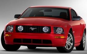 Картинка лошадь, Mustang, красная