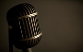 Картинка макро, стиль, ретро, музыка, звук, микрофоны, саунд