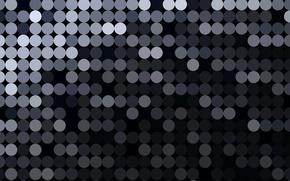 Картинка круги, текстура, черно-серая
