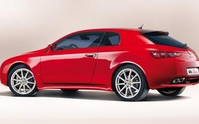 Картинка Red, Alfa, Romeo, Back, Brera, Rosso, Alfa Red, Alfa Rosso, Alfa Romeo Brera, Alfa Brera