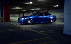 Картинка BMW, синяя, Ronaldo Stewart, 535
