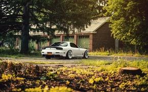 Картинка Mazda, Car, Sun, White, RX-7, Swap, LS1