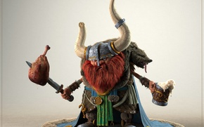 Картинка render, beer, viking, chicken, hungry