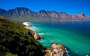 Картинка гора, Africa, Cape Town, South, берег, побережье, море, лес
