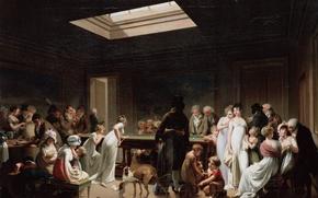 Картинка люди, игра, бильярд, Boilly
