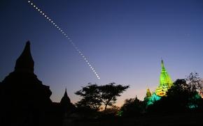 Картинка ночь, луна, собор