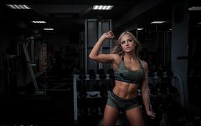 Картинка девушка, Спорт, sport, girl, фитнес, фотосессия, прайм, gym, fitnes
