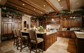 Картинка стиль, стол, стулья, интерьер, техника, interior, kitchen, кухни, дизайн.