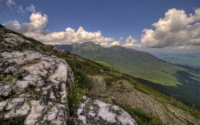Картинка облака, пейзаж, горы, природа, США, New Hampshire