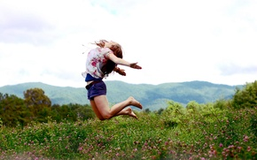 Картинка настроение, свобода, полёт, девушка