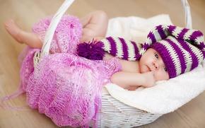 Картинка корзина, шапка, ребенок, Winter, младенец, baby, kid, Infants