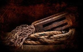 Картинка ржавчина, верёвка, Шкив