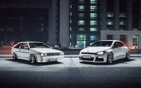 Картинка белый, Volkswagen, white, front, фольксваген, Scirocco, Ciprian Mihai