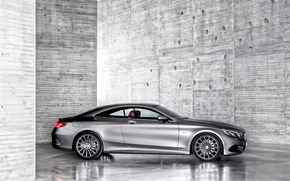 Обои mercedes-benz, s-class coupe, мерседес, купе, car