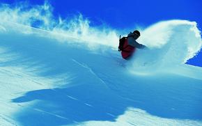 Картинка winter, snow, ski, moutains, free ride