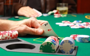 Картинка карты, фишки, покер, тузы, казино, pocker