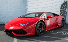 Картинка Красный, Lamborghini, Тюнинг, Vorsteiner, Huracan
