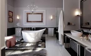 Картинка design, style, modern, interior, bathroom, glamorous