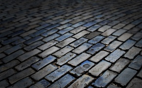 Обои цвета, кирпичи, темные, текстура, дорога, тротуарная, камни