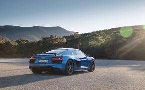 Картинка машина, небо, Audi, суперкар, V10, Plus