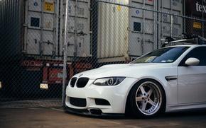 Картинка белый, BMW, дорога4.