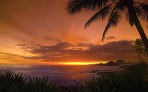 Обои море, остров, небо, пейзаж