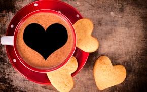 Картинка любовь, сердце, кофе, чашка, love, десерт, heart, сладкое, sweet, dessert, coffe