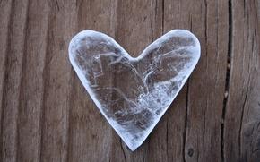 Обои Лед, сердце