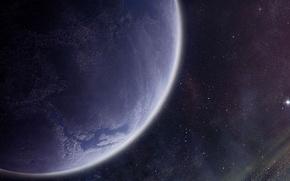 Обои звезды, поверхность, планета, атмосфера, астероиды