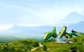 Обои небо, зелень, пейзажи