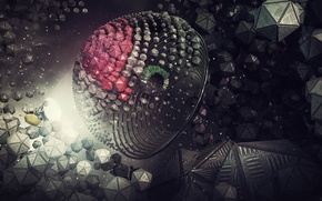 Картинка космос, абстракция, рендер, digital art, hq wallpaper, lacza