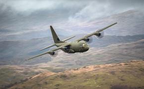 Картинка самолёт, военно-транспортный, Lockheed Martin, Super Hercules, C-130J