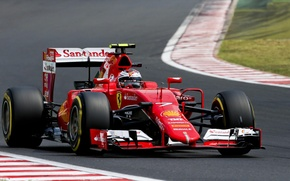 Картинка Ferrari, Formula 1, Kimi Raikkonen, Передок, Hungry, SF15T