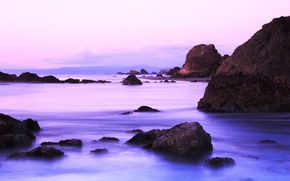 Обои вода, камни, берег