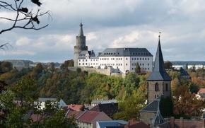 Картинка Burg, Altstadt, Osterburg, Bergfried, Wiedenkirche, Weida, Kirche
