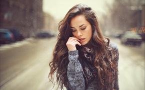 Картинка девушка, настроение, улица, портрет