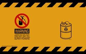Обои минимализм, токсические, отходы, бочка, предупреждение