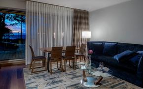 Картинка комната, мебель, вилла, интерьер, окно