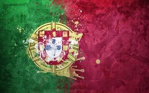 Картинка краски, флаг, Португалия, герб, flag, República Portuguesa, Португальская Республика
