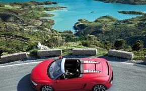 Картинка пейзаж, Audi, вид, лагуна, Spyder