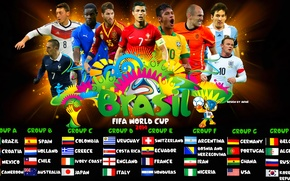 Картинка футбол, fifa world cup, группы, brazil, кубок мира, 2014