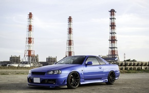 Картинка тюнинг, ниссан, Nissan Skyline, R34, скайлайн