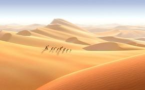 Картинка песок, пустыня, мультфильм, гномы, поход, приключение, 7-ой гном, Der 7bte Zwerg