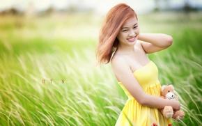 Картинка лето, девушка, настроение, азиатка