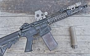 Картинка винтовка, глушитель, карабин, штурмовая, полуавтоматическая
