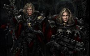 Обои оружие, 40k, Warhammer, Adepta Sororitas, Сёстры Битвы, женщины