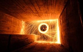 Картинка light, fire, tunnel fire