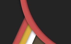 Картинка белый, линии, желтый, черный, геометрия, коричневый, design, color, material, коралловый