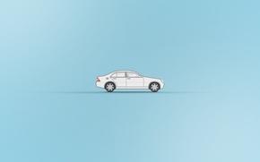 Картинка машина, минимализм, автомобиль, мерседес, mersedes, mersedes c200